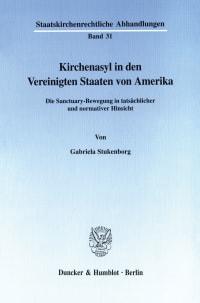 Cover Kirchenasyl in den Vereinigten Staaten von Amerika