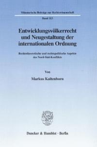 Cover Entwicklungsvölkerrecht und Neugestaltung der internationalen Ordnung