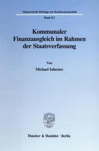 Cover Kommunaler Finanzausgleich im Rahmen der Staatsverfassung