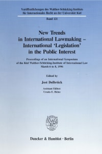 Cover New Trends in International Lawmaking - International 'Legislation' in the Public Interest