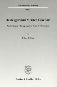 Cover Heidegger und Meister Eckehart