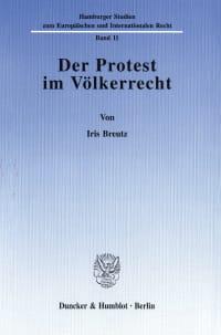 Cover Der Protest im Völkerrecht