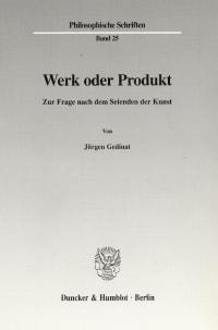 Cover Werk oder Produkt