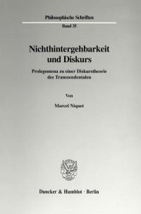 Cover Nichthintergehbarkeit und Diskurs