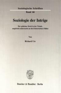 Cover Soziologie der Intrige