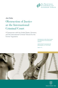 Cover Obstruction of Justice at the International Criminal Court