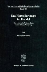 Cover Das Herstellerimage im Handel