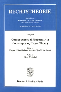 Cover Consequences of Modernity in Contemporary Legal Theory