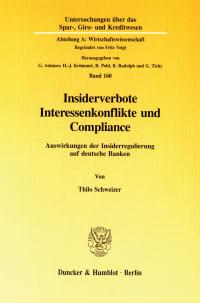 Cover Insiderverbote, Interessenkonflikte und Compliance