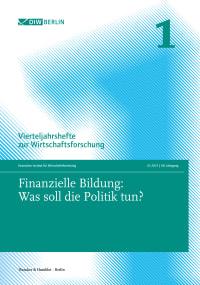 Cover Finanzielle Bildung: Was soll die Politik tun?