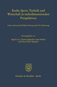 Cover Recht, Sport, Technik und Wirtschaft in mehrdimensionalen Perspektiven