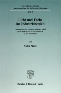 Cover Licht und Farbe im Industriebetrieb
