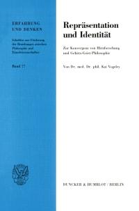 Cover Repräsentation und Identität