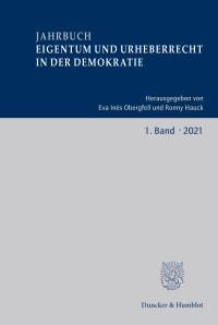 Cover Jahrbuch Eigentum und Urheberrecht in der Demokratie (JEUD)