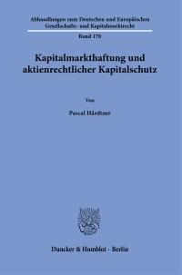 Cover Kapitalmarkthaftung und aktienrechtlicher Kapitalschutz