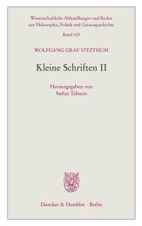 Cover Kleine Schriften II