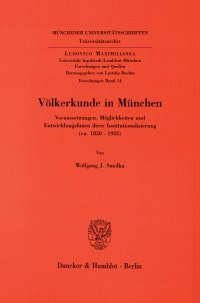 Cover Völkerkunde in München