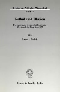 Cover Kalkül und Illusion