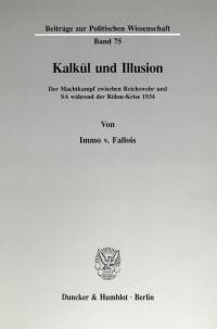 Cover Kalkül und Illusion