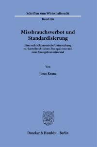 Cover Missbrauchsverbot und Standardisierung