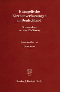 Cover Evangelische Kirchenverfassungen in Deutschland