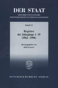Cover DER STAAT