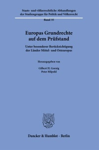 Cover Europas Grundrechte auf dem Prüfstand