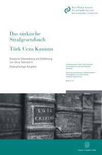 Cover Das türkische Strafgesetzbuch / Türk Ceza Kanunu