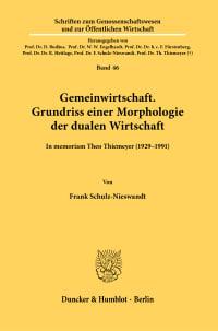 Cover Gemeinwirtschaft. Grundriss einer Morphologie der dualen Wirtschaft