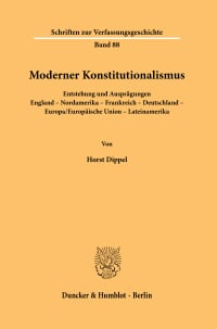 Cover Moderner Konstitutionalismus