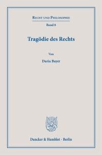 Cover Tragödie des Rechts