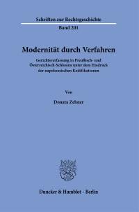 Cover Modernität durch Verfahren