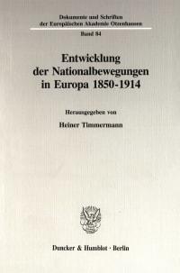 Cover Entwicklung der Nationalbewegungen in Europa 1850-1914