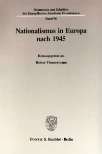 Cover Nationalismus in Europa nach 1945