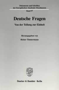 Cover Deutsche Fragen