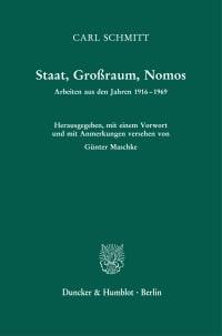 Cover Staat, Großraum, Nomos