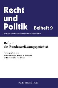Cover Reform des Bundesverfassungsgerichts?