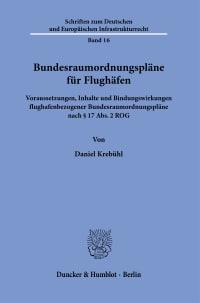 Cover Bundesraumordnungspläne für Flughäfen