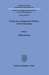 Cover Essays on a Comparative History of Fire Insurance