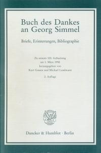 Cover Buch des Dankes an Georg Simmel