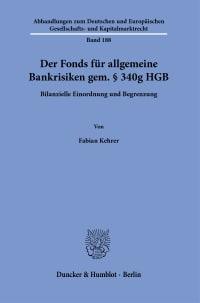 Cover Der Fonds für allgemeine Bankrisiken gem. § 340g HGB