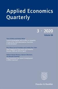 Cover Applied Economics Quarterly (AEQ)