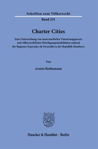 Cover Charter Cities