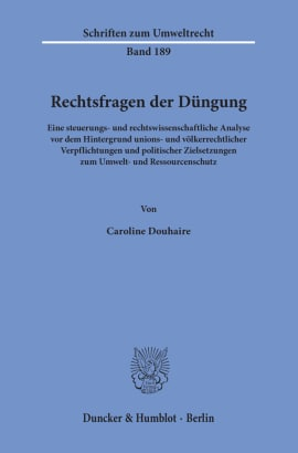 Cover Rechtsfragen der Düngung