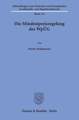 Cover Die Mindestpreisregelung des WpÜG