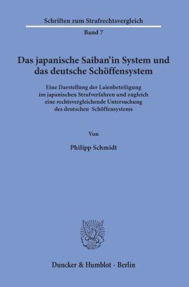 Cover Das japanische Saiban'in System und das deutsche Schöffensystem
