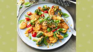 Rezept für gebratene Kartoffel-Gnocchi mit Brokkoli, Tomaten und Linsen
