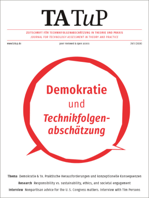 Cover Democracy and technology assessment