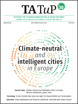 Cover Climate-neutral and intelligent cities in Europe