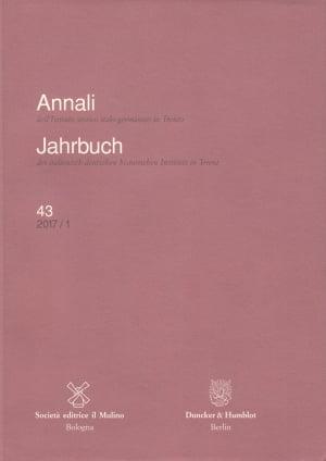 Cover Annali dell'Istituto storico italo-germanico in Trento / Jahrbuch des italienisch-deutschen historischen Instituts in Trient
